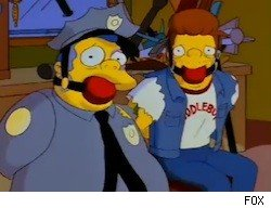 """From the hilarious Simpson's episode """"22 Stories About Springfield"""" where they parodied Pulp Fiction."""