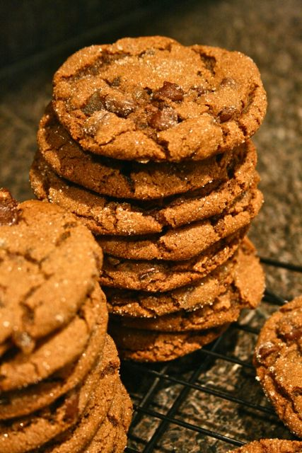 Molasses Chocolate Chunk Cookies Recipe — Dishmaps