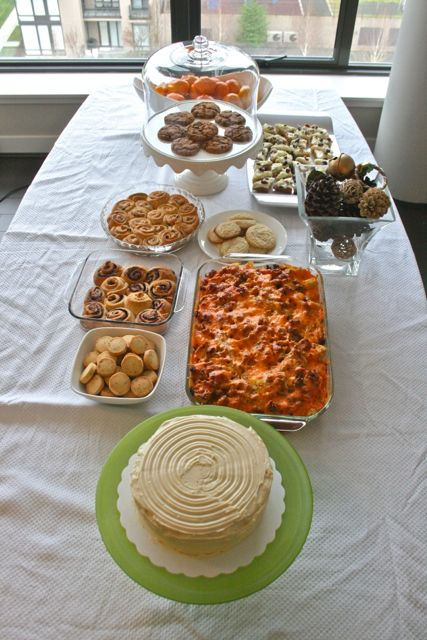 The spread for my annual day of baking.