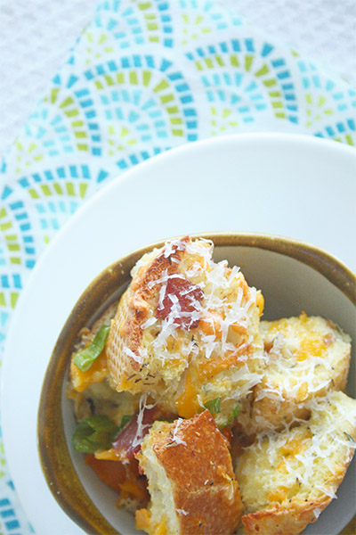 Bacon and eggs bread pudding 1