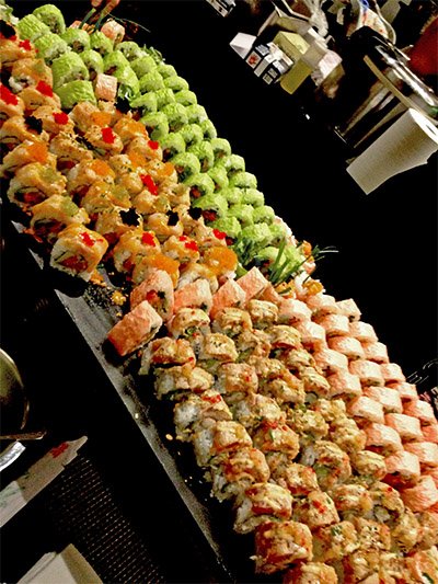 As much sushi as you could possibly want from the W Hotel's kitchen.