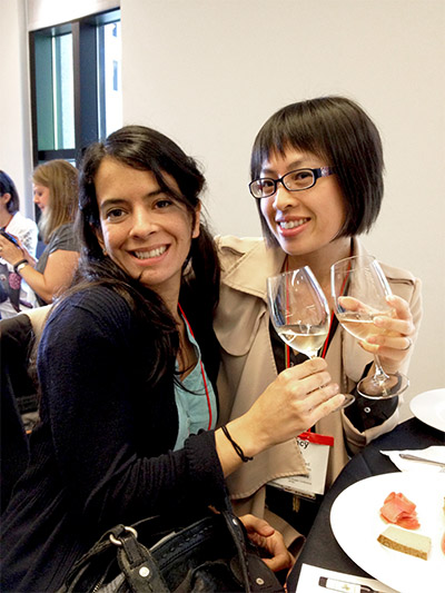 "Vane and I ""learning"" during the food and wine session."