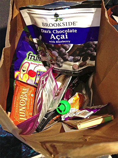 Our bag of goodies.