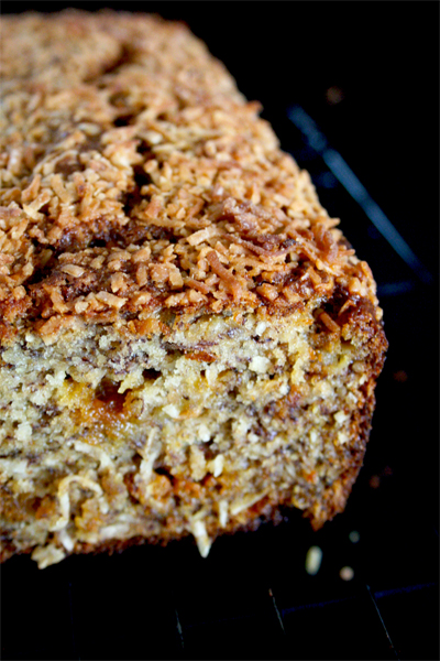 Butterscotch Coconut Banana Bread | gotta get baked