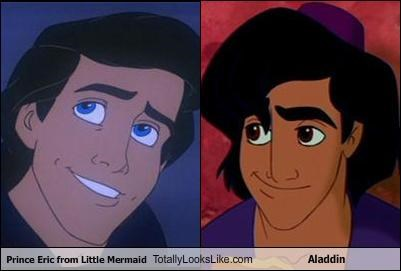 Aladdin is basically Prince Eric.