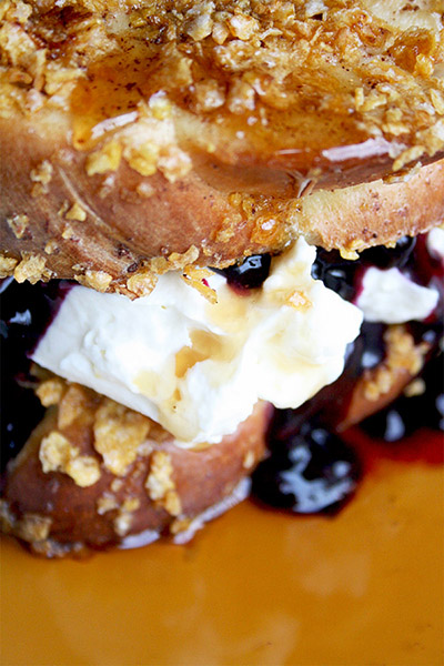 Mascarpone Blueberry Stuffed French Toast | gotta get baked
