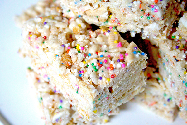 Funfetti Rice Krispies squares | gotta get baked