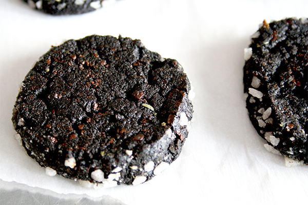 Dark chocolate lavender sables | www.gottagetbaked.com