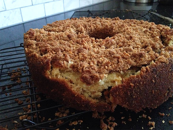 Coconut streusel cake epic fail
